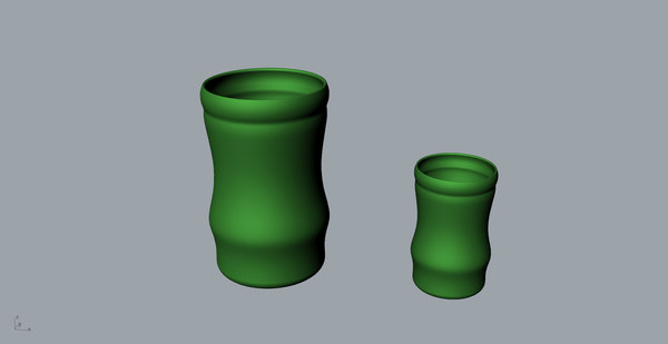 bamboo cup printing 3D model