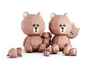 papercraft bear model
