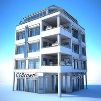 City Building 03 - Generic White