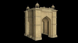 combination india gate 3D model