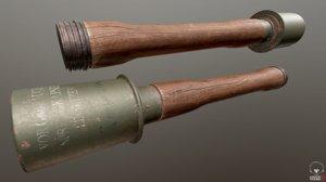 pbr stielhandgranate grenade 3D model