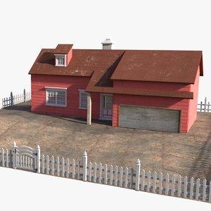 3D model villa house