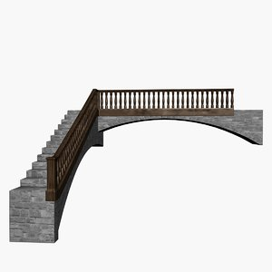 3D model staircase stair medieval