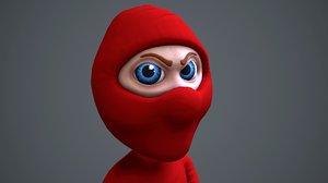 3D animate ninja