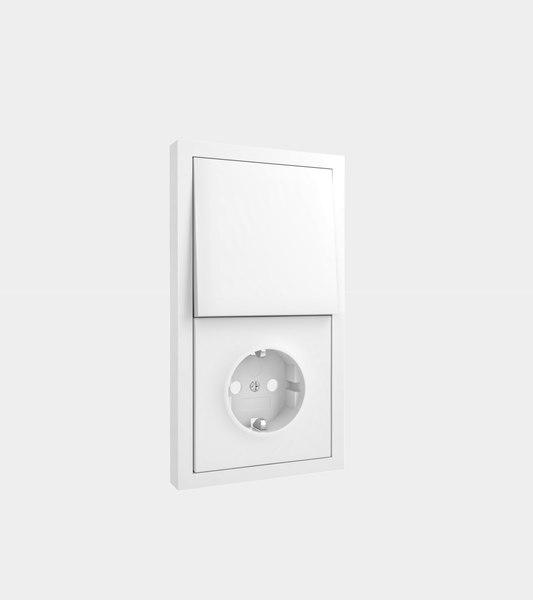 3D socket light switch modelled
