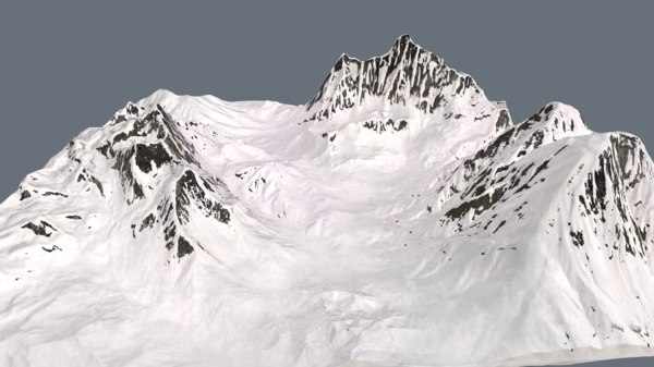 3D model snow valley