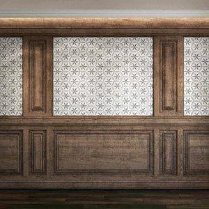 3D wall panel set 78