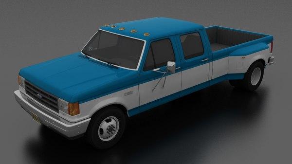 3D f-350 xl pickup drw model