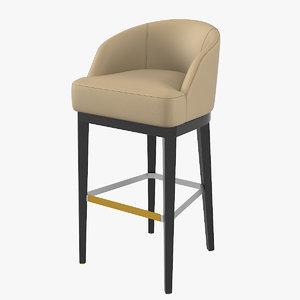 3D paolo castelli venice bar stool
