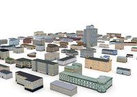 3D 122 buildings