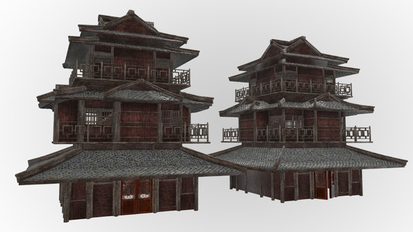 fantasy medieval oriental chinese 3D model
