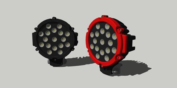 led light 3D model