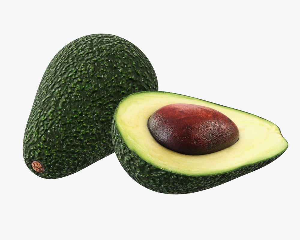 avocado food fruit 3D model