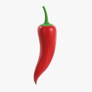 3D chili pepper