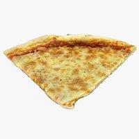 3D sliced pizza model