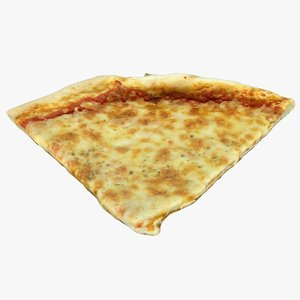 3D sliced pizza model