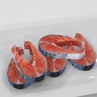 3D salmon steake model