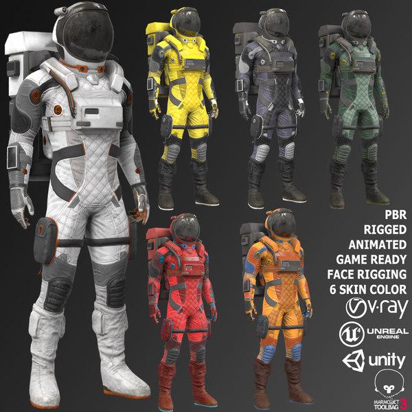 suit sci fi 3D model