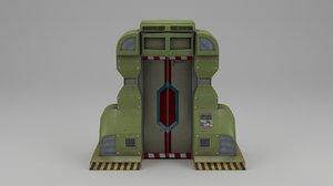 3D unreal doors model