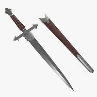 3D dagger fantasy