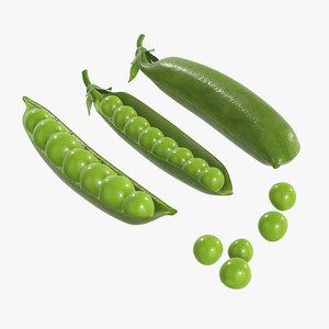 3D peas food vegetable
