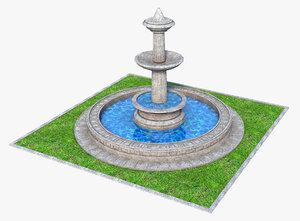fountain fount 3D model
