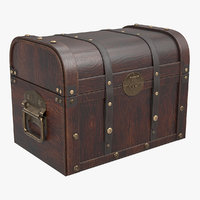 3D pirate chest model