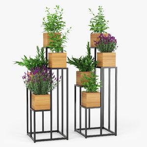 3D quadrant plant stand