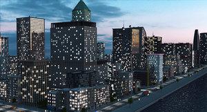 coastal city a1 3D