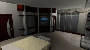 3D bedroom flat