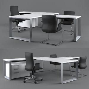 executive table codutti avita 3D model