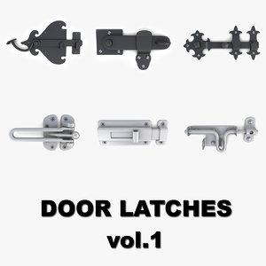 door latches 1 3D