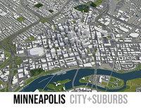 Minneapolis - city and surrounding area
