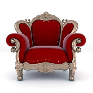 3D luxury armchair