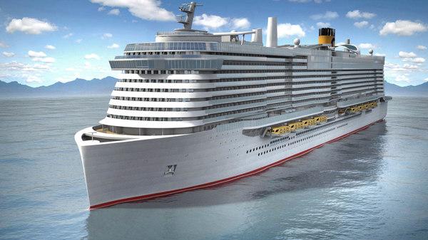 costa smeralda cruise 3D model