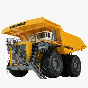 mining truck liebherr model