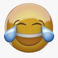 Emoji 3D Face With Tears of Joy