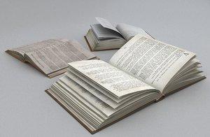 3D open books model