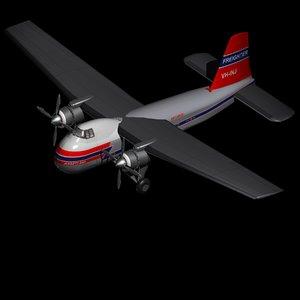 bristol freighter cargo plane 3D model