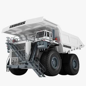 3D mining truck liebherr model