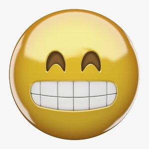 emoji grin face model
