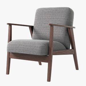 realistic ikea ekenaset armchair 3D model