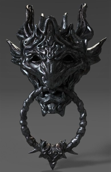 fantasy head door knob 3D model