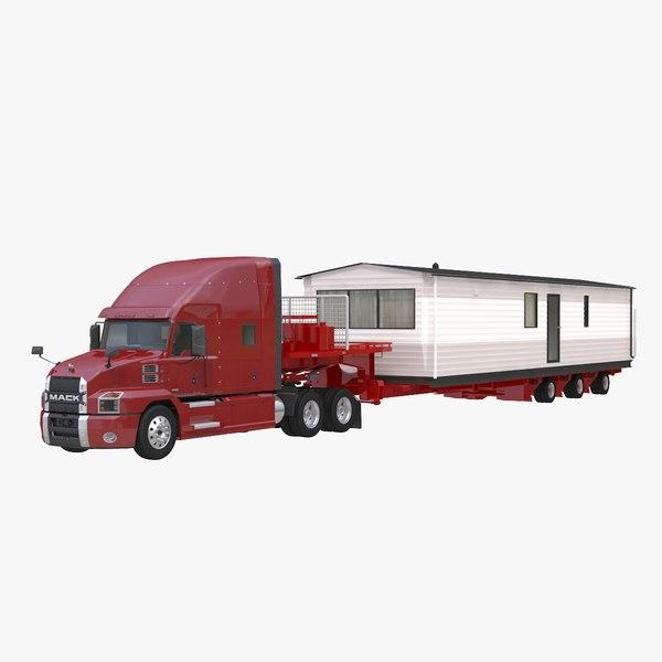 mack anthem house trailer 3D model