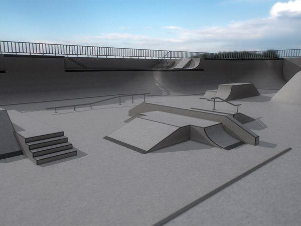 skatepark skate modular 3D model