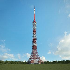 3D tokyo tower