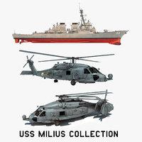 3D model 2 uss milius