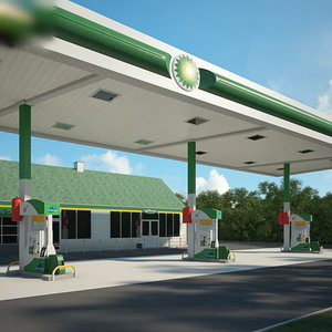 3D bp gas station model