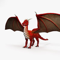 3D european dragon