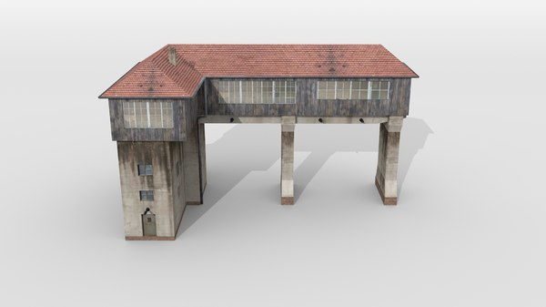 3D old signal tower